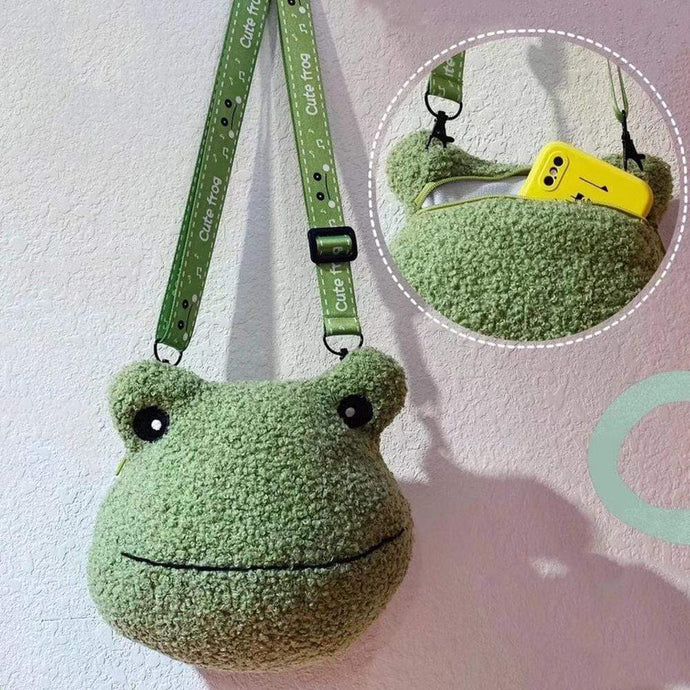 Kinky Cloth 200001420 Crossbody Shoulder Bag Plush Frog