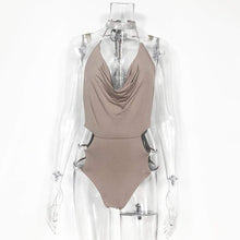 Kinky Cloth Bodysuit Khaki / L Crystal Bodysuit