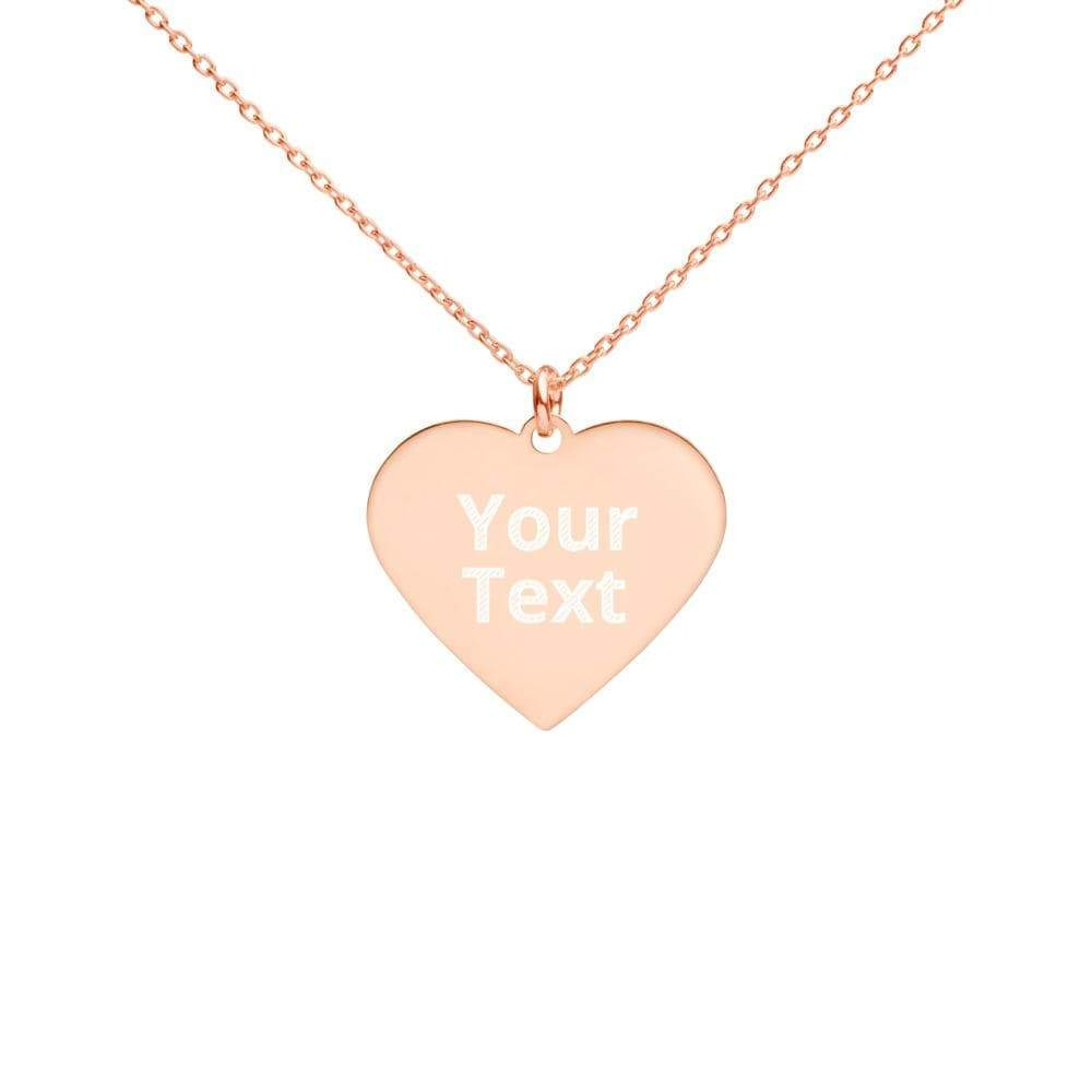 Kinky Cloth 18K Rose Gold coating Custom Personalized Engraved Heart Necklace