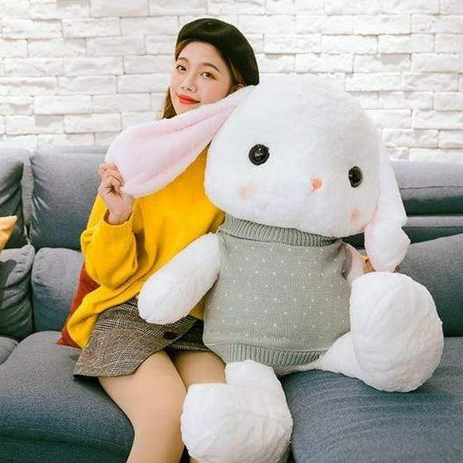 Cute Bunny with Sweaters Plush Doll