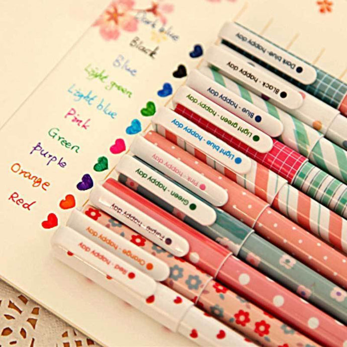 Kinky Cloth 21110704 Cute Colored Gel Pen 10 Pcs/Set