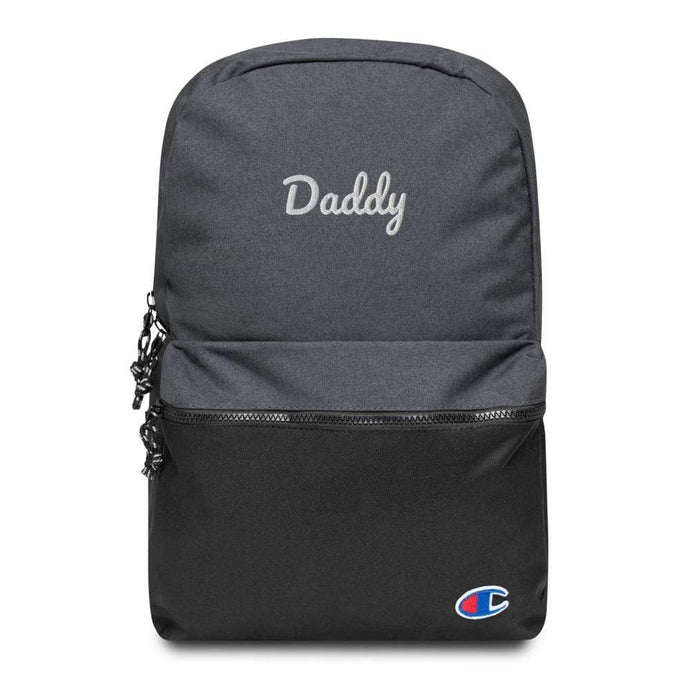 Kinky Cloth Heather Black / Black Daddy Embroidered Backpack