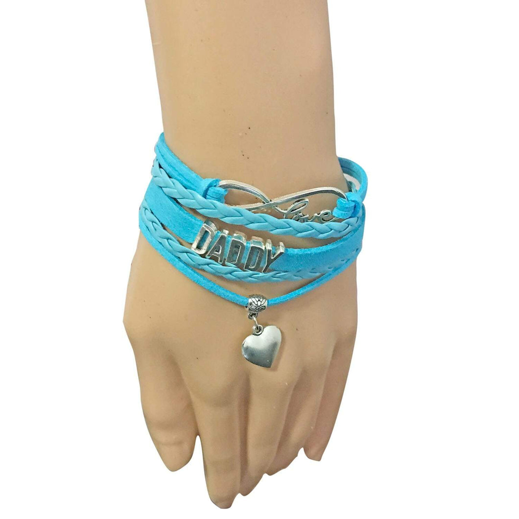 Kinky Cloth Jewelry & Watches Blue bracelets / 16cm Daddy Leather Bracelet