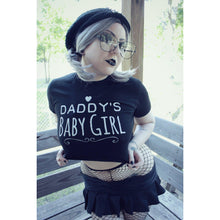 Kinky Cloth Top Crop Top - S / White/ Pink Font Daddy's Baby Girl Top