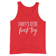 Kinky Cloth Red Triblend / XS Daddy's Little Fuck Toy Tank Top