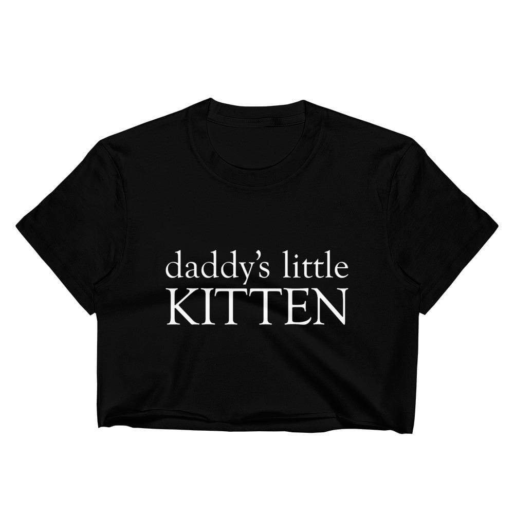 Kinky Cloth S Daddy's Little Kitten Crop Top