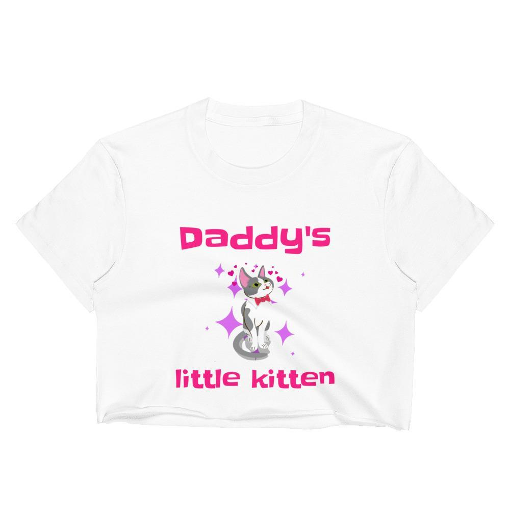 Daddys Little Kitten Crop Top