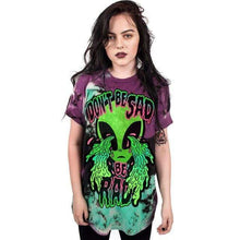 Kinky Cloth T-Shirt Crying alien shirt / L Don't Be Sad Be Rad T-shirt