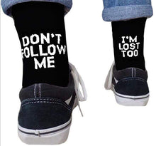 Kinky Cloth Black / One Size Don't Follow Me I'm Lost Too Socks