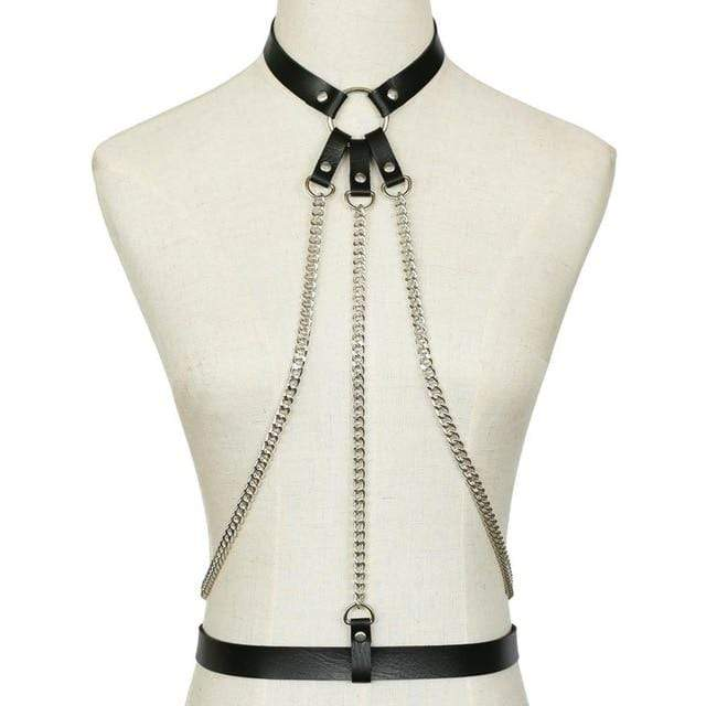 Kinky Cloth Black Dungeoness Harness