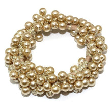 Kinky Cloth 200000395 Beige Elastic Pearl Hair Ties Beads