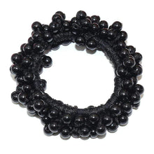 Kinky Cloth 200000395 Black Elastic Pearl Hair Ties Beads