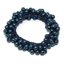 Kinky Cloth 200000395 Blue Elastic Pearl Hair Ties Beads