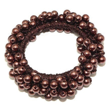 Kinky Cloth 200000395 Brown Elastic Pearl Hair Ties Beads