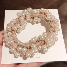 Kinky Cloth 200000395 Cream Elastic Pearl Hair Ties Beads