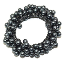 Kinky Cloth 200000395 Dark Gray Elastic Pearl Hair Ties Beads