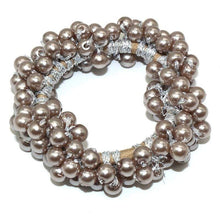 Kinky Cloth 200000395 Light Brown Elastic Pearl Hair Ties Beads