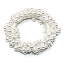 Kinky Cloth 200000395 White Elastic Pearl Hair Ties Beads