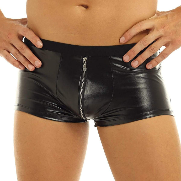 Kinky Cloth 200001868 M Faux Leather Zipper Boxer Shorts