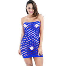 Kinky Cloth Blue / One Size Fishnet Dress