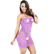 Kinky Cloth Purple / One Size Fishnet Dress