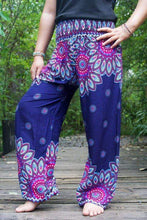 Tan Smokey Clothing Floral Mandala Yoga Harem Pants