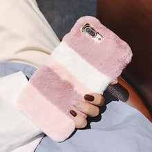 Kinky Cloth Accessories for iPhone 6 6S / Pink and White Fluffy Bunny Phone Case