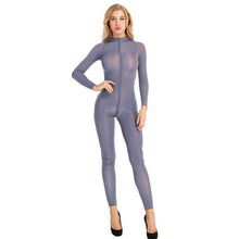 Kinky Cloth 200001800 Gray / L Full Sheer Long Sleeve Bodysuit
