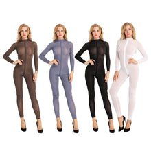 Kinky Cloth 200001800 Full Sheer Long Sleeve Bodysuit