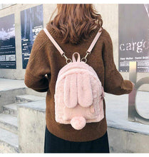 Kinky Cloth Bags & Wallets Fuzzy Bunny Backpack