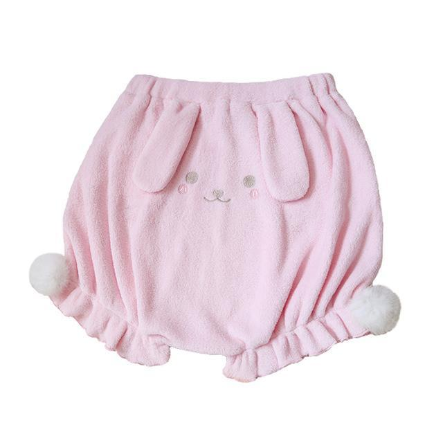 Kinky Cloth Shorts Pink / L Fuzzy Bunny Shorts