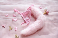 Kinky Cloth Panties Fox tail Pink / One Size Fuzzy Tail Thongs