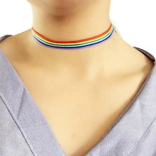 Fuchsia Missy Jewelry & Watches A Gay Pride LGBT Rainbow Choker