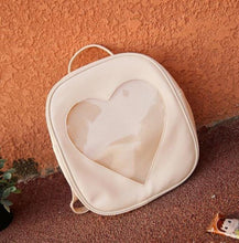 Kinky Cloth backpack Beige Glitter Heart Jelly Backpack