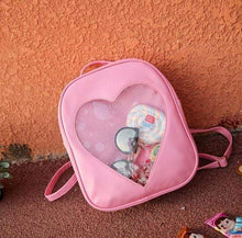 Kinky Cloth backpack Pink Glitter Heart Jelly Backpack