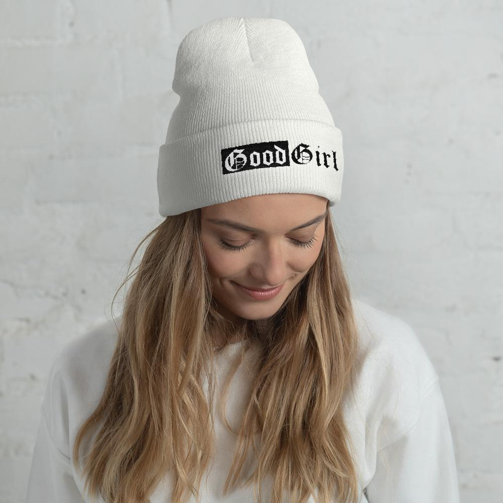 Kinky Cloth accessories White Good Girl Embroidered Beanie
