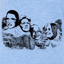Indigo Tiger Top L / heather blue Great American Women on Mt Rushmore