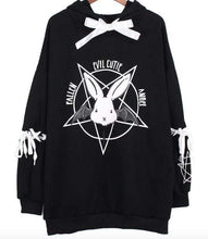 Kinky Cloth Top Black Harajuku Evil Bunny Hoodie