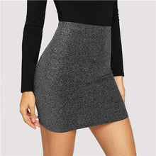 Kinky Cloth 349 Grey / L High Waist Metallic Mini Skirt