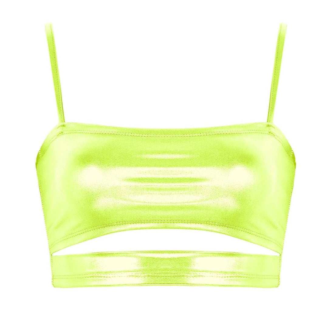Kinky Cloth 200000790 Fluorescein / L Holographic Metallic Camis Top