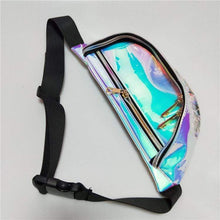 Kinky Cloth Blue Holographic Transparent Fanny Pack