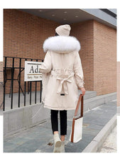 Load image into Gallery viewer, Kinky Cloth Jacket Hooded Fur Long Jacket