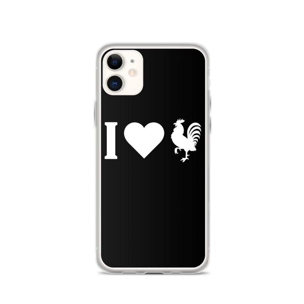 Kinky Cloth iPhone 11 I Love Rooster (Cock) IPhone Case
