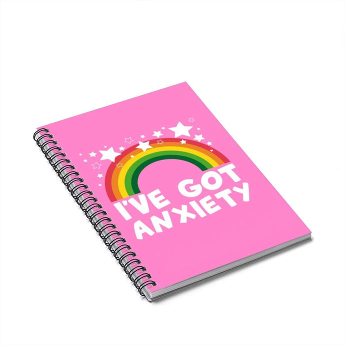 Printify Paper products Spiral Notebook I've Got Anxiety Spiral Notebook