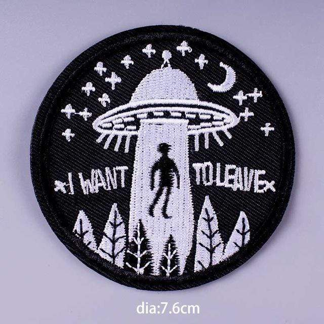 Kinky Cloth Patch I Want to Leave Patch