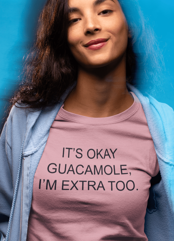 Scorpius Women's Clothing LARGE It's Ok Guacamole T-shirt