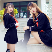 Load image into Gallery viewer, Kinky Cloth Navy / S Japanese School Girl Uniform