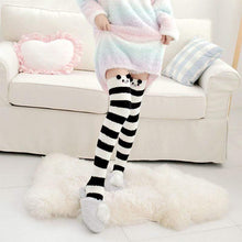 Kinky Cloth Socks Black / One Size Kawaii Fuzzy Animal Thigh High Socks