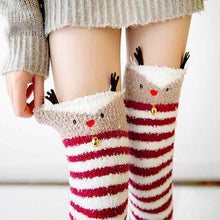 Kinky Cloth Socks Burgundy / One Size Kawaii Fuzzy Animal Thigh High Socks