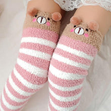 Kinky Cloth Socks Kawaii Fuzzy Animal Thigh High Socks